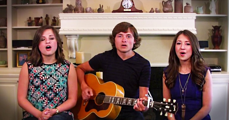 Talent Runs Deep In This Family. And Their Acoustic Hymn Will Completely Cover You In CHILLS!