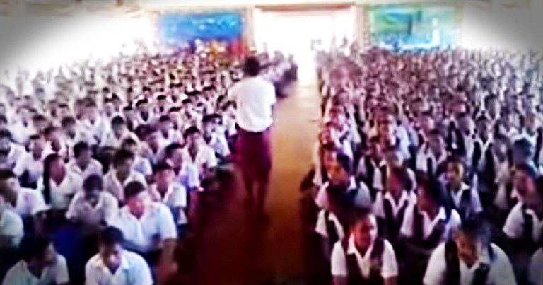 Now This Has To Be The Coolest School Assembly Of All Time. And They're Singing For JESUS!