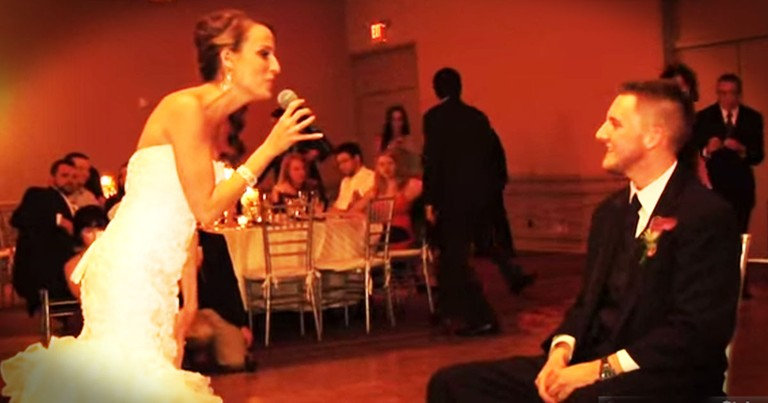 I'd No Idea What This Bride Was Gonna Do. When She Started To Sing, My Tears Didn't Stand A Chance