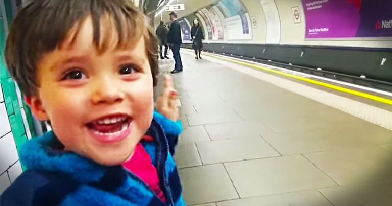 Apparently, Somebody LOVES The Train. And His Excitement Is Completely ADORABLE!