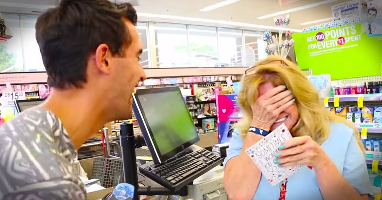 This Deserving Cashier Just Got The Best Surprise. Now Her Jaw Isn't The Only One On The Floor!