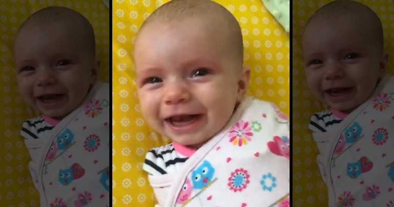 This Sweetie Woke Up On The Wrong Side Of The Bed. Then Daddy Did THIS And Made It All Better-Awww!