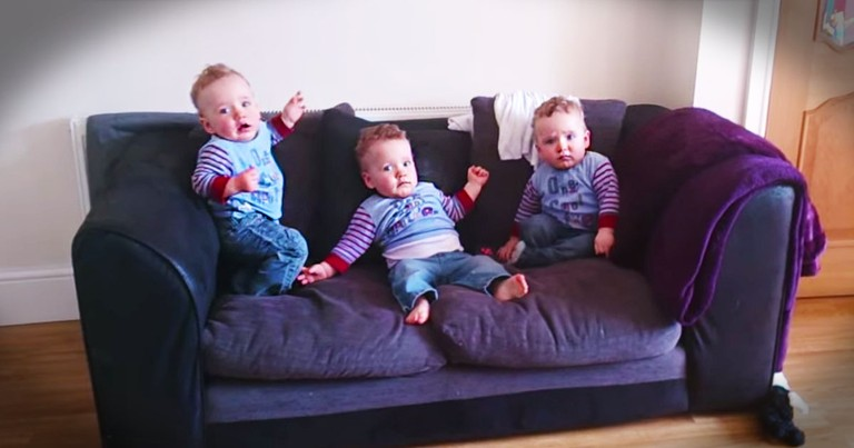 These Triplets Are About To Make Your Day. With A Little Help From The Tickle Monster!