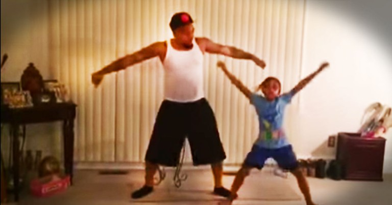 Dad Adorably Joins His Daughter For A Choreographed Dance Routine--Aww!