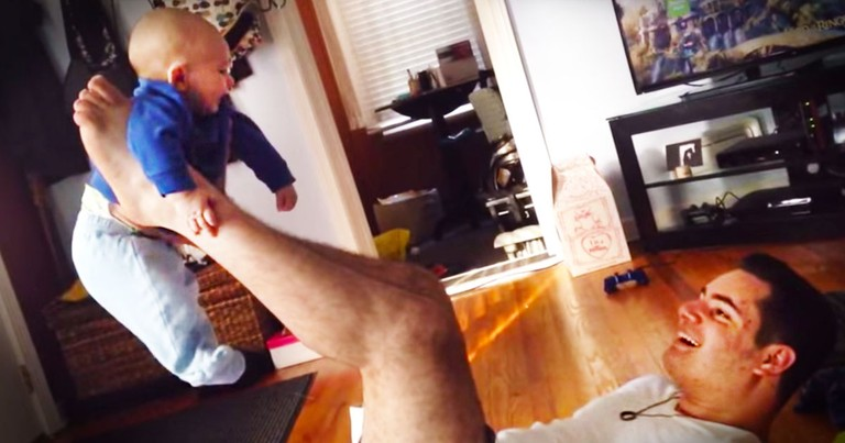 Father With No Arms Find Adorable Ways To Bond With His Baby Boy