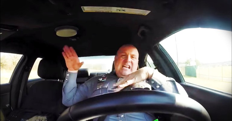 Police Officer's Dash Cam Captures BEST Lip Dub