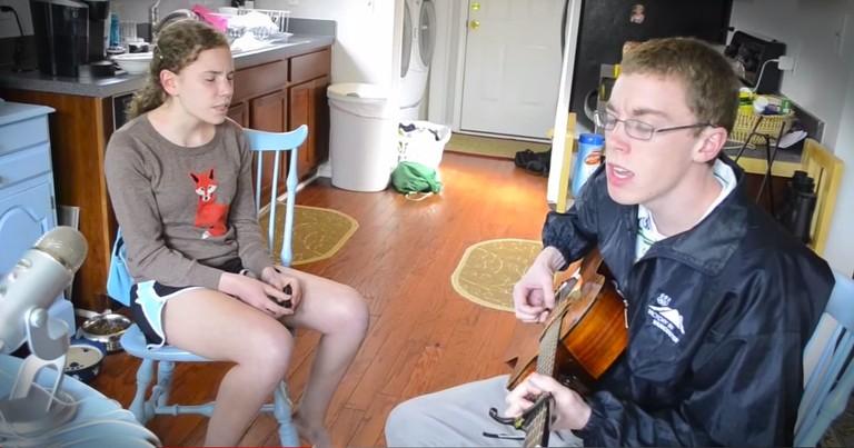 These Siblings Beautifully Sing 'Hero' --WOW!