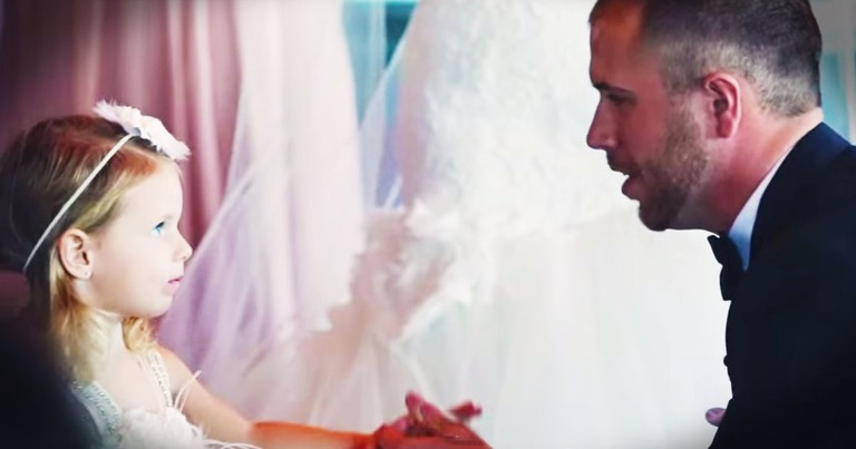 NASCAR Groom Shares Secret Vows With Tiny Tot That Had Me SOBBING!
