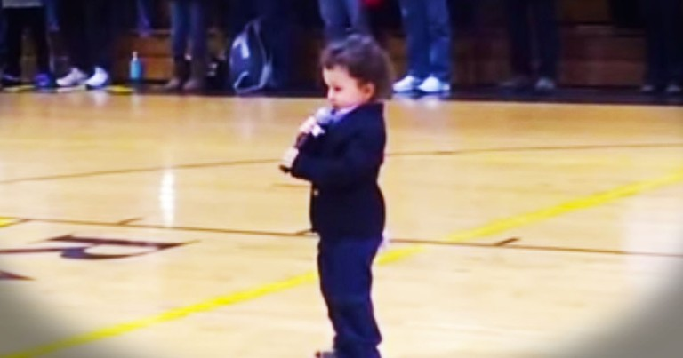 2-Year-Old Sings World's Cutest National Anthem