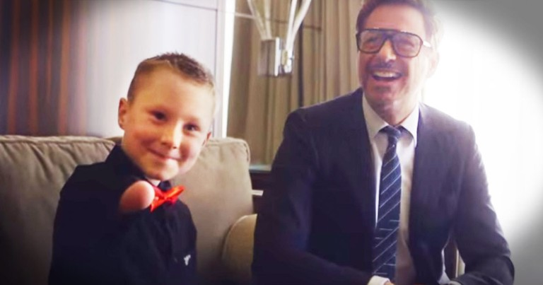 Robert Downey Jr. Delivers JOY To Boy With A Disability