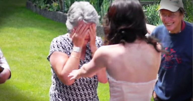 Granddaughter Wears Grandma's Dress To Prom