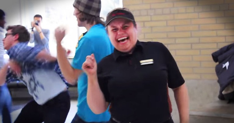 Customers Surprise Deserving Cashier With Flash Mob And MORE!