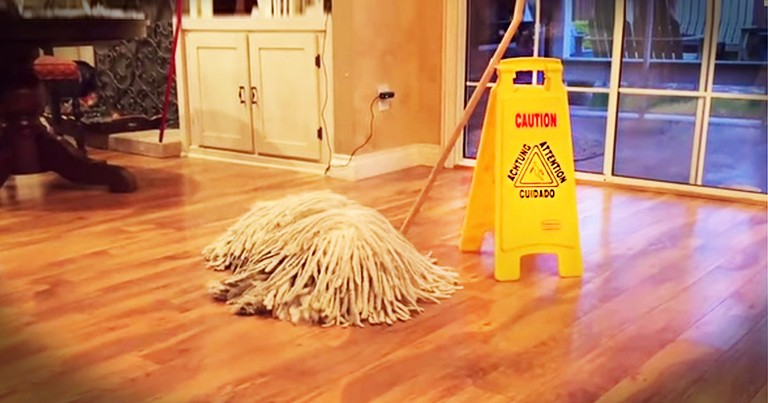 Apparently, This Normal Mop Has A Surprise For You--LOL!
