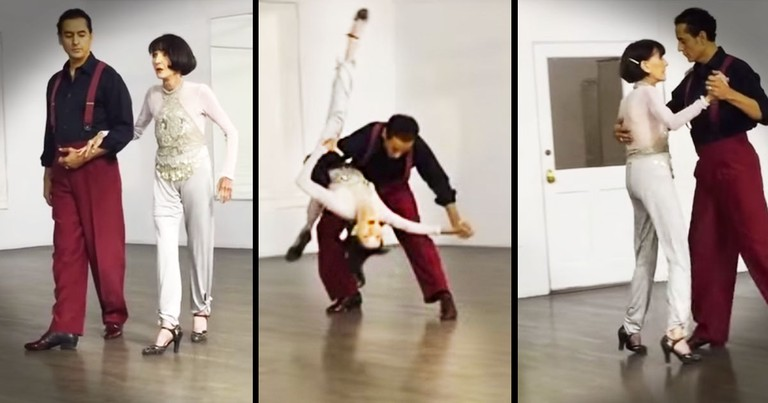 92-Year-Old STUNS With This Birthday Tango!