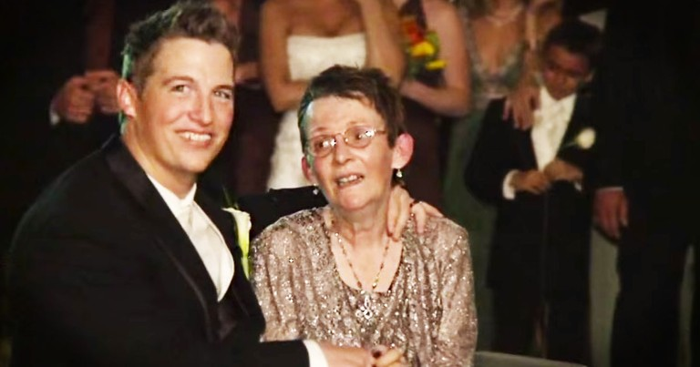Groom's Mom Couldn't Dance So He Did THIS--Tears!