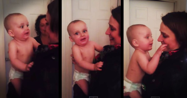 10-Month-Old Baby Meets His Mom's Twin For The First Time. . .And It's Precious!