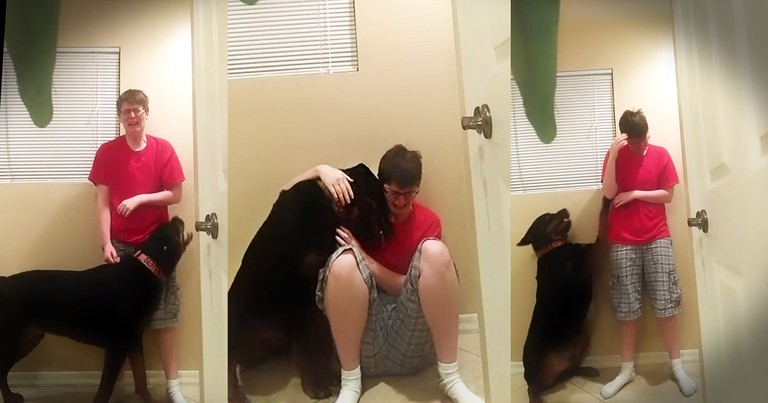 Woman With Asperger's Was Suffering Until Her Loyal Dog Did THIS!
