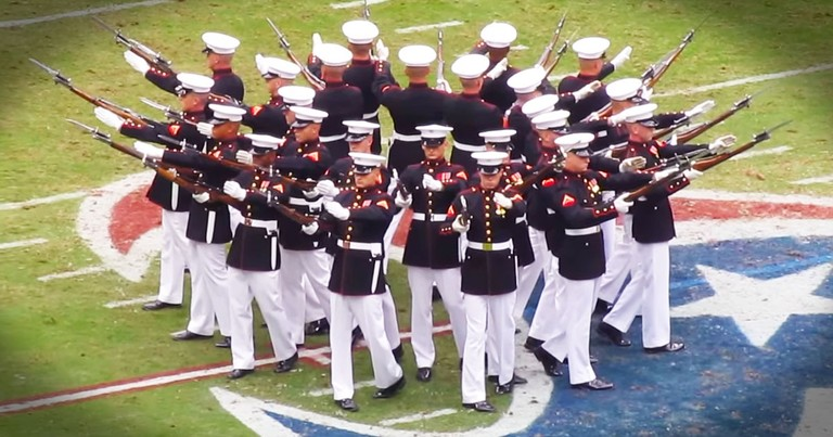 These Marines Just WOWed An Entire Arena. Now THIS Is One Performance I Can't Get Enough Of!