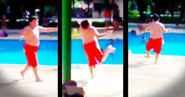 This Young Boy's Pool Side Dance Will Make Your Summer.