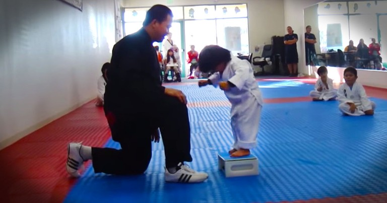 When This Little Boy Finally Broke The Board I Had To Cheer!