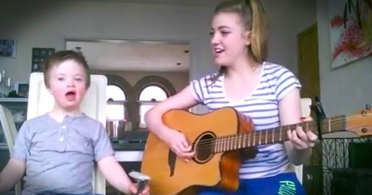 She Started Singing Her Brother's Favorite Song, And When He Joined In I Had To Smile!