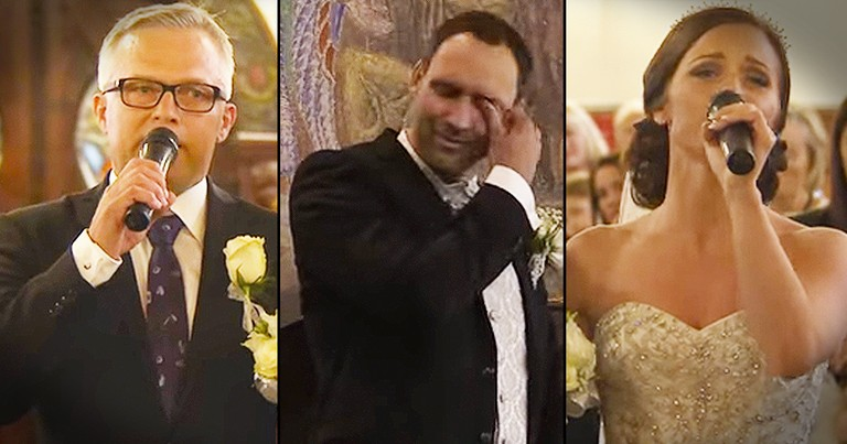 Bride And Her Father Sang Down The Aisle, And I'm Sobbing!