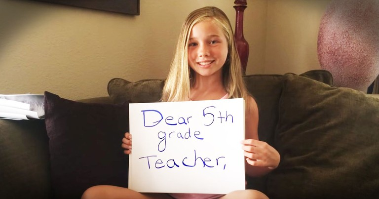 She Needed To Tell Her Teacher 1 Thing. And How She Did It...Powerful!