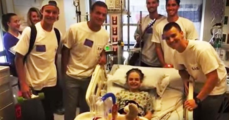 What This Fraternity Did For A Sick Little Girl Is Truly Touching