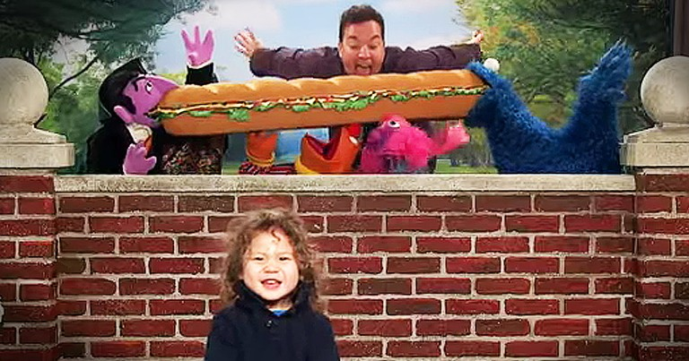 Kid's Reactions To Sesame Street 'Photobomb' Made My Day!