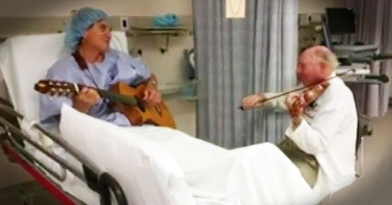 Surgeon Calms Patient's Nerves With Beautiful Instrumental Duet