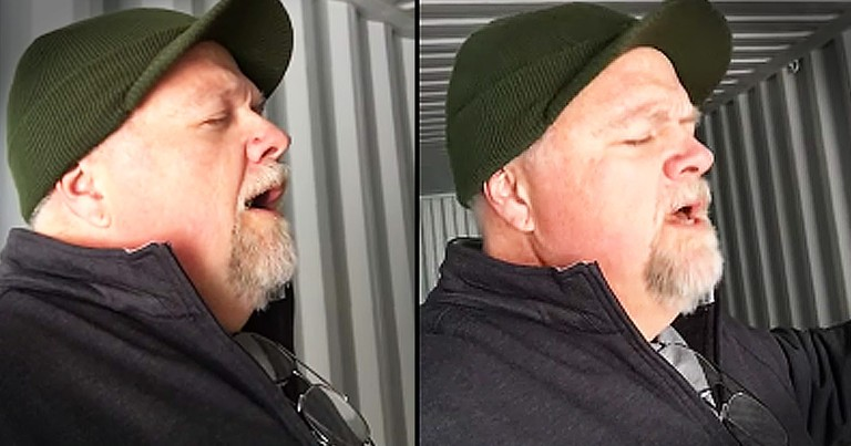 Man Sings Beautiful Ave Maria In Shipping Container