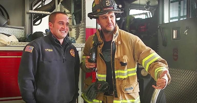 Luke Bryan Thanks Local Firefighters In Sweetest Way