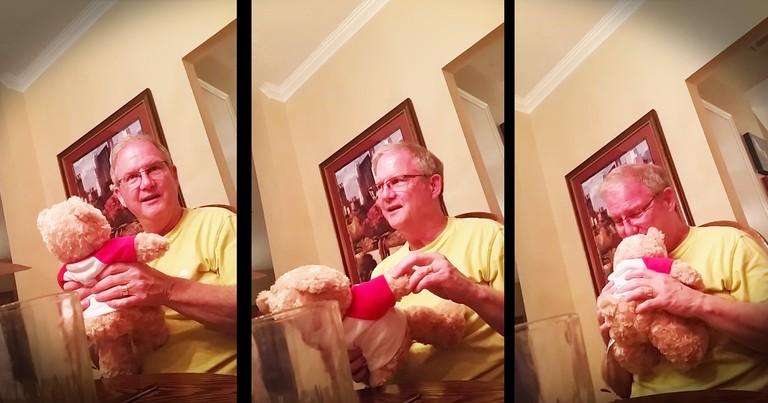 Future Grandpa's Birthday Baby Surprise Will Melt Your Heart