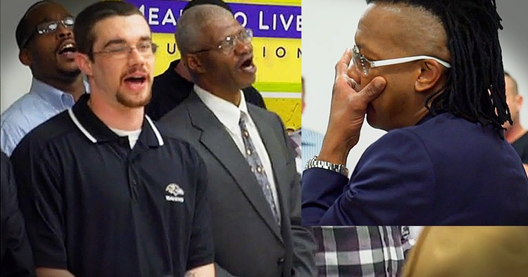 Lead Singer Of Newsboys Tears Up When Homeless Choir Sings 'We Believe'