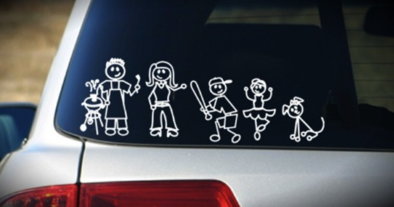 These Cute Stickers On Your Car Could Be Putting You At RISK!