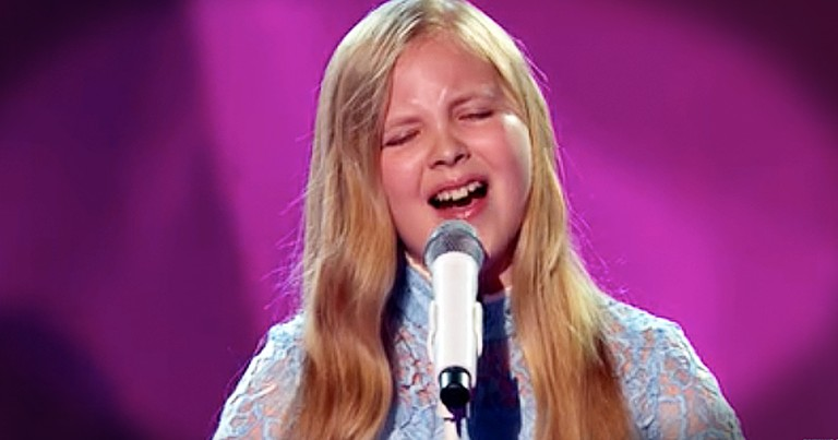 Little Girl With A BIG Voice Wows With This Broadway Hit