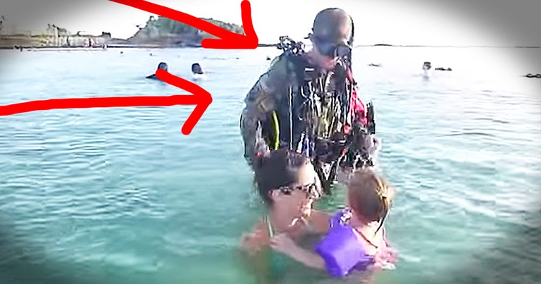 Soldier Dad's Scuba Surprise For His Family Is AMAZING