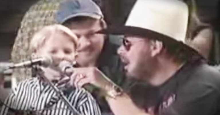 5-year-old Hunter Hayes Plays With Hank Williams Jr
