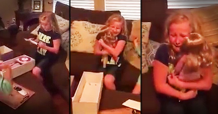 Little Girl Gets A Doll Just Like Her And Makes Your Day
