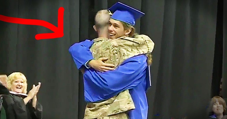 Soldier Surprises His Son Just In Time For Graduation