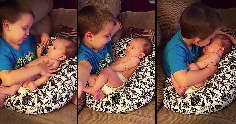 Sweet Brother Singing To His Baby Sister Will Make Your Heart Sing