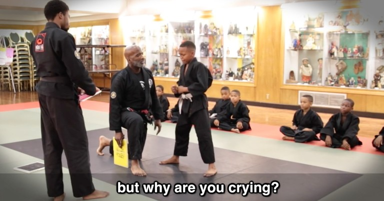 Instructor Has A Perfect Response To A Boy Crying During His Test
