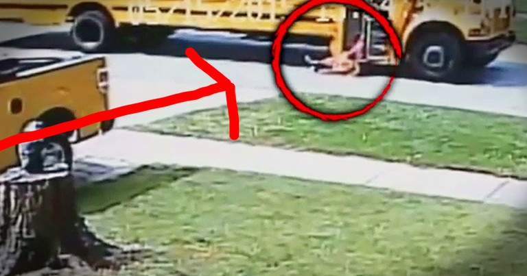 7-Year-Old Gets Dragged By School Bus After Doors Trap Her Backpack. Every Parent Needs To See This