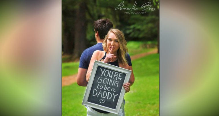 He Just Found Out He's Going To Be A Daddy. . . And HOW Is Precious!