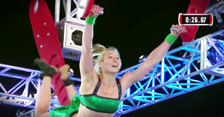 The First Woman Just Conquered Ninja Warrior, And You Wanna Watch This