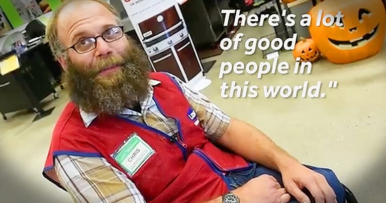 Smiling Lowes Employee Receives Life-Changing Gift From Co-Workers