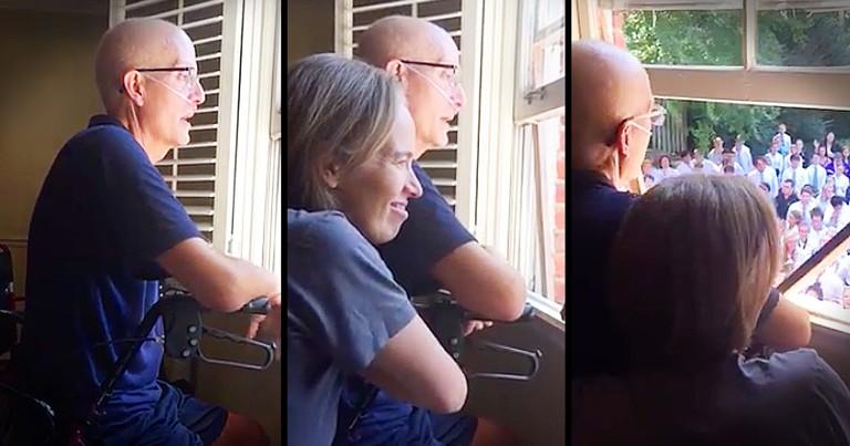 Entire Student Body Sings 'Holy Spirit' Outside Of Sick Teacher's Window