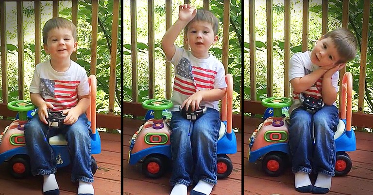 Precious Little Boy Recites Psalm 23