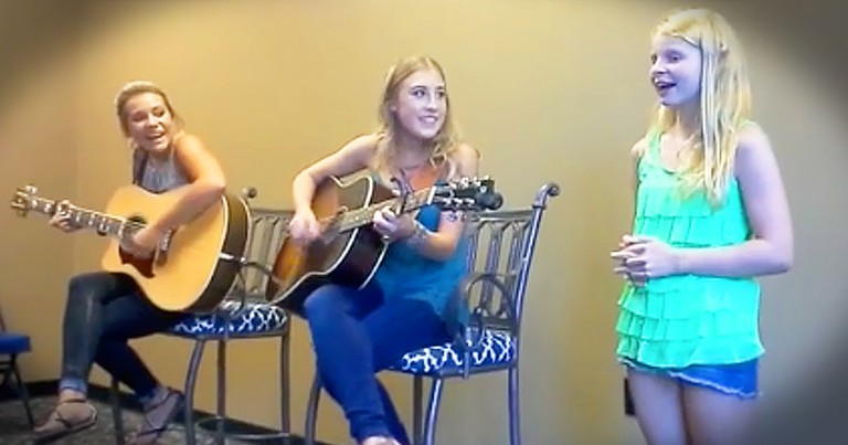 Young Girl With Big Voice Gets To Live Dream By Singing With Country Music Duo