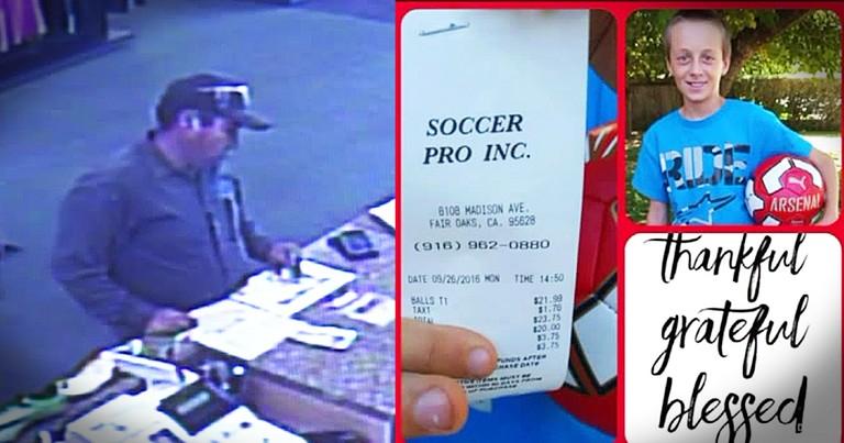 Stranger Leaves Family $20 To Replace Stolen Soccer Ball